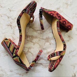 Jessica Simpson Aztec block Heel Sandals